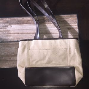 Bags - Beige and Brown Long Strap Purse